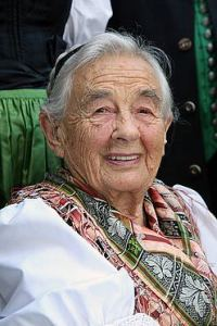 One of the surviving members of the musical von Trapp family that inspired the Sound of Music has been remembering her favourite things when she flew back to the family home in Salzburg for the first time since she fled the Nazis in the 1930s. Pic shows Maria von Trapp