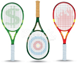 13337223-tennis-rackets-dollar-sign-target-flame