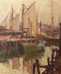img_6531-emile-gruppe-crowded-harbor-24x20-oil-206x250